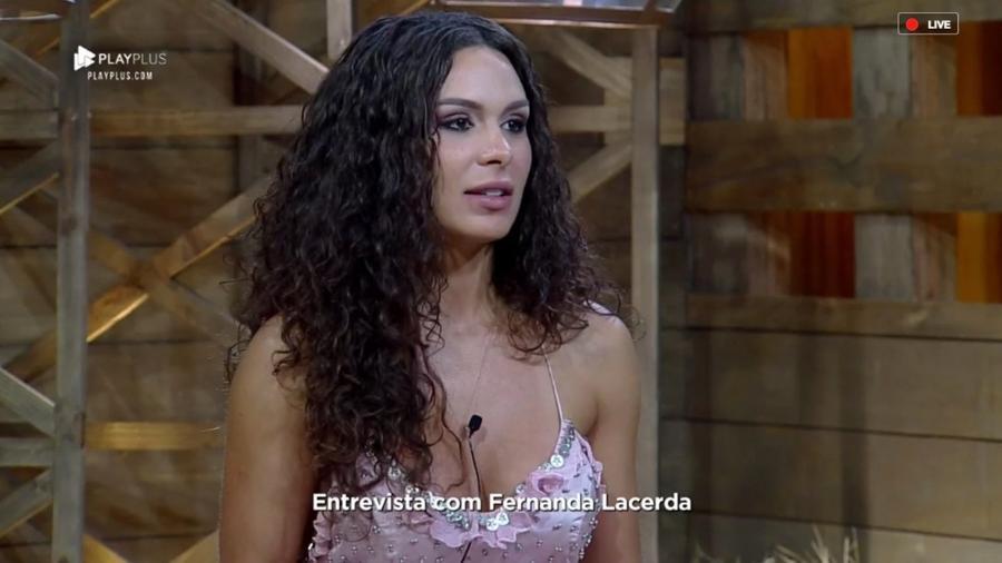 Após ser eliminada de ?A Fazenda 10?, Fernanda Lacerda conversa com Marcos Mion - Reprodução/RecordTV
