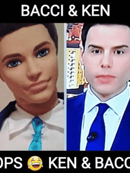 Luiz Bacci é comparado ao boneco Ken em brincadeira que está rodando na internet - Reprodução/Instagram