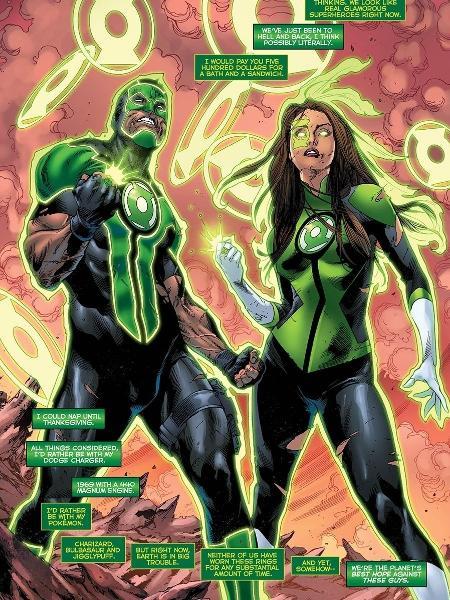 Lanterna Verde ilustrado pelo brasileiro Robson Rocha para a DC Comics - Reprodução