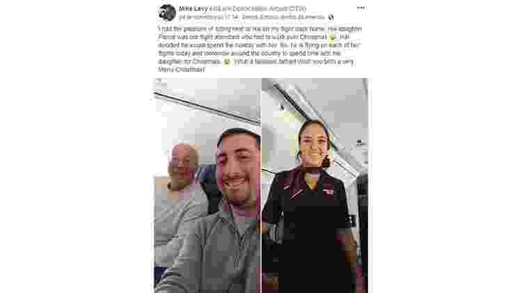 Pai voa com a filha - Reprodução/Facebook - Reprodução/Facebook