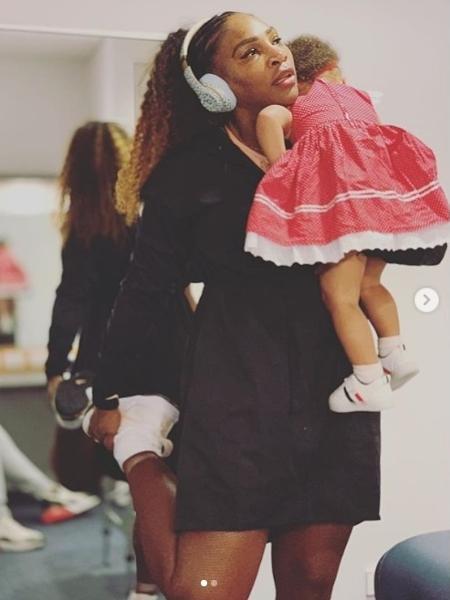 Serena Williams com a pequena Alexis Olympia - Reprodução/Instagram