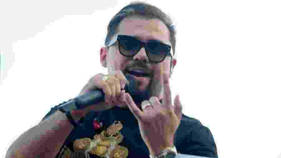 O cantor Xand Avião, em show no Anhembi, em São Paulo - Junior Lago/UOL