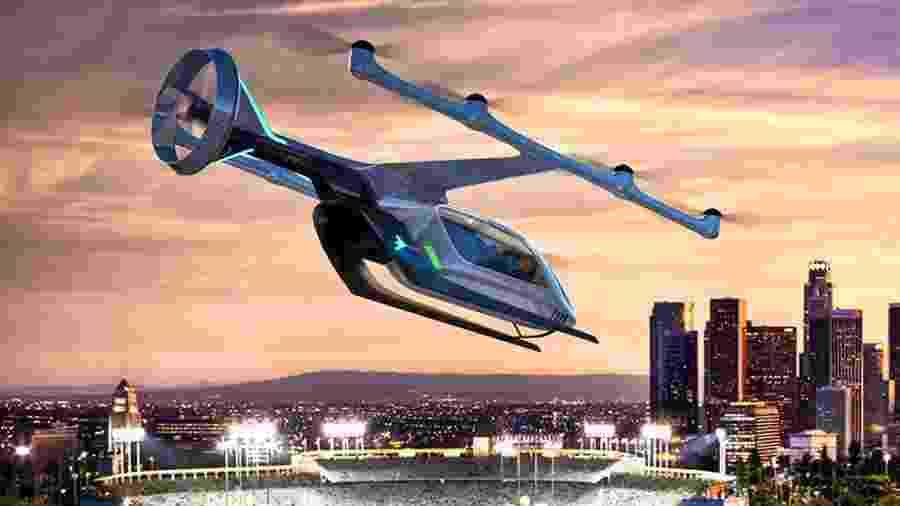 Conceito de carro voador da Embraer. Será que a Hyundai também desenvolverá um modelo? - Divulgação