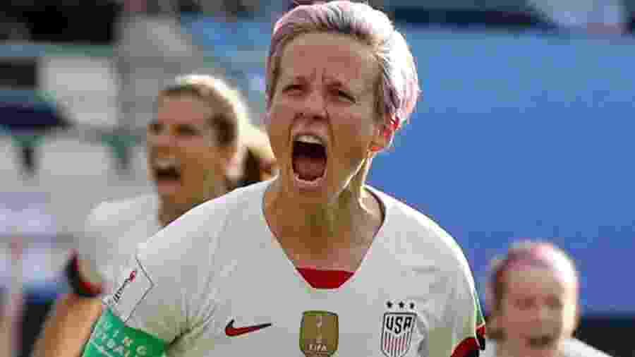 Megan Rapinoe comemora gol pela seleção feminina dos EUA - Reuters