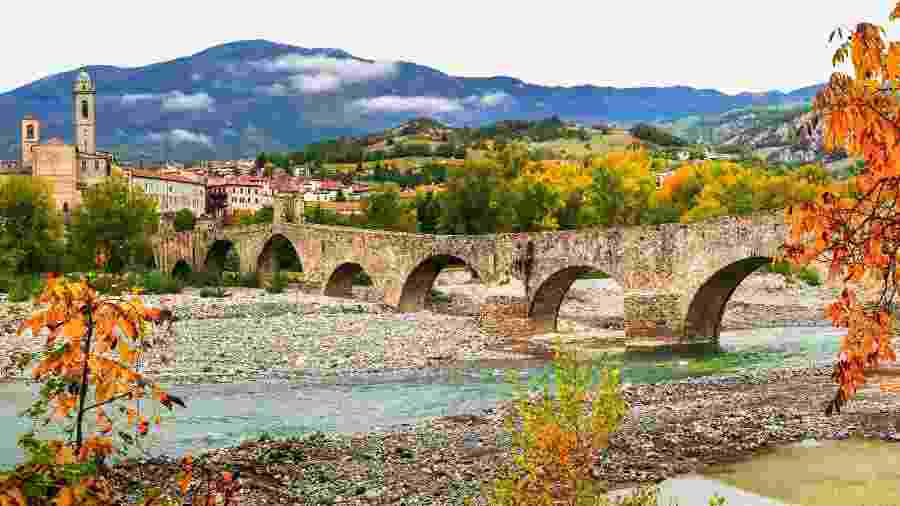 Bobbio tem 3,5 mil habitantes, sendo que 2 mil vivem em seu centro histórico - Getty Images/iStockphoto