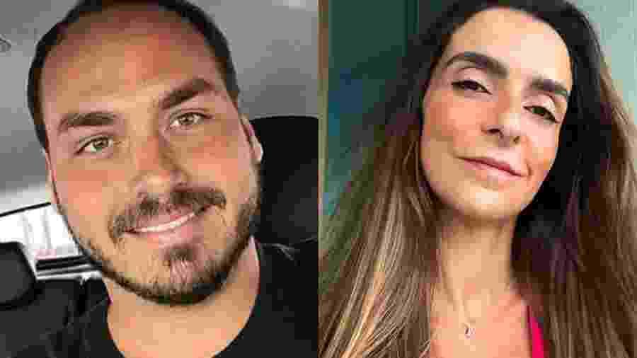 Carlos Bolsonaro e Talita Galhardo - Reprodução/Instagram/Montagem UOL