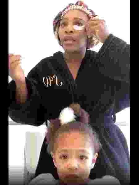Serena Williams e a filha Olympia  - REPRODUÇÃO/INSTAGRAM