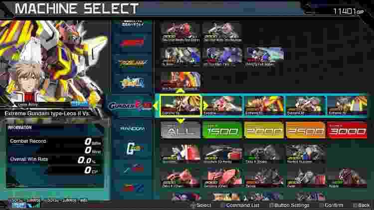 Gundam sistema de classes - Reprodução - Reprodução