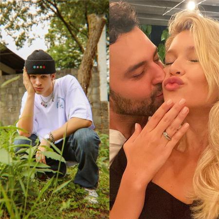 João Guilherme pede festão em casamento da prima, Lyandra, filha de Leandro - Reprodução / Instagram