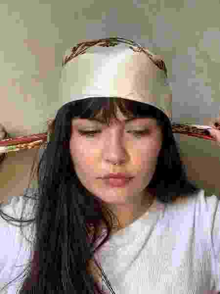 Franja com lenço - foto 5 - Natália Eiras - Natália Eiras