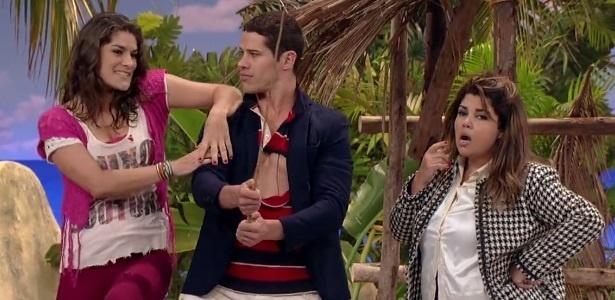 4.out.2015 - Priscila Fantin, José Loreto e Fabiana Karla no humorístico