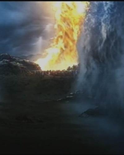 """10.nov.2015 - Após o comando de Moisés, Mar Vermelho se abre em """"Os Dez Mandamentos"""""""