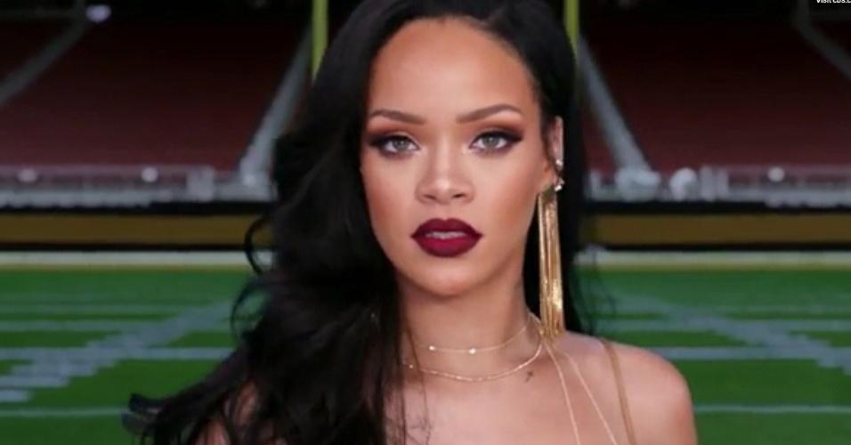 Rihanna aparece em comercial do Grammy Awards 2016, veiculado pelo canal CBS