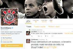 Reprodução/Twitter/Corinthians