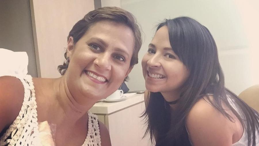 Renata e Anna, juntas em um dia de quimioterapia - Arquivo Pessoal