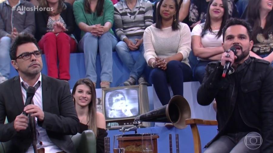 """Zezé Di Camargo e Luciano participam do """"Altas Horas""""; a dupla fica animada em bate-papo sobre sexo - Reprodução/TV Globo"""