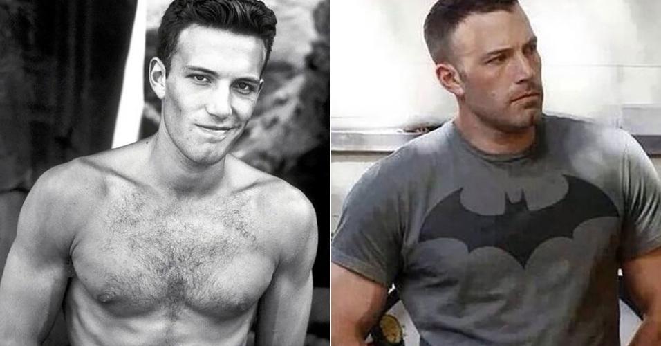 Ben Affleck já posava de galã no início da carreira, bem antes de assumir o soturno visual de Bruce Wayne