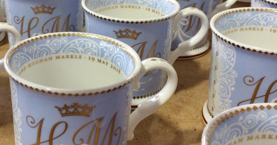 Lembrancinhas comemorativas do casamento do príncipe Harry com Meghan Markle