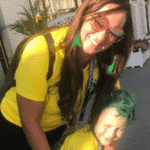 Nadine Gonçalves, mãe de Neymar, e Davi Lucca, filho do craque, a caminho do estádio na Rússia - Reprodução/Instagram/nadine.goncalves
