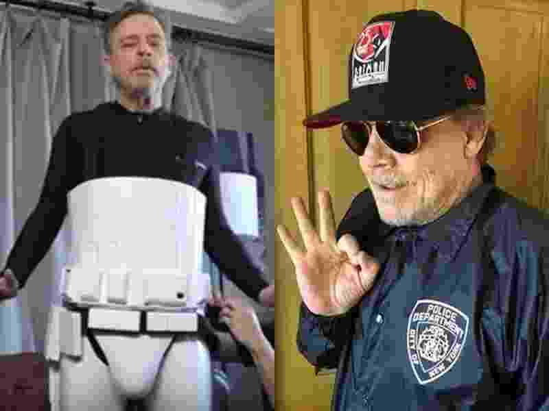 "Mark Hamill se disfarça de Stormtrooper e de personagem de ""Brooklyn-99"" para circular na San Diego Comic-Con 2018 - Reprodução/Instagram"