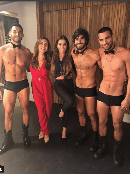 Drayson Menezzes, Adriana Esteves, Deborah Secco, Hugo Moura e Pablo Morais - Reprodução/Instagram