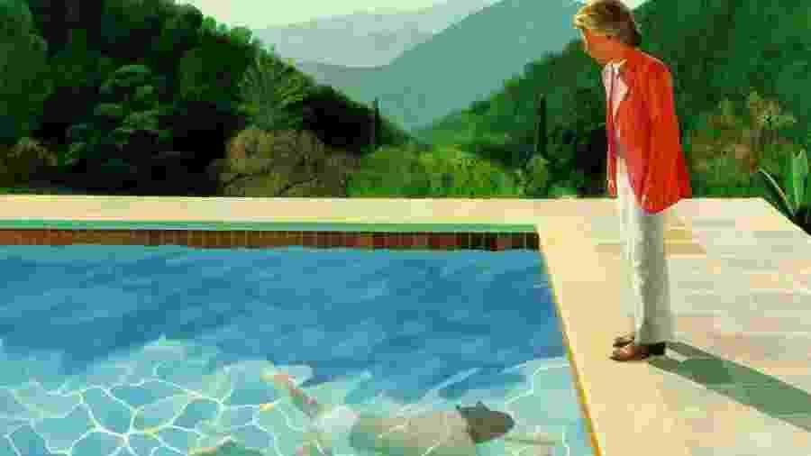 "A obra ""Portrait of an Artist (Pool With Two Figures)"" - Reprodução"