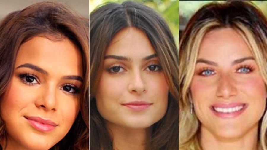 Bruna Marquezine, Thaila Ayala e Giovanna Ewbank - Divulgação/Montagem UOL