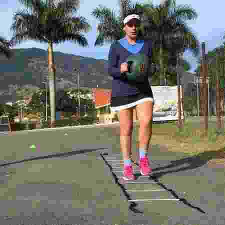 Para vencer depressão, Ludimila começou a fazer aulas de treino funcional e corrida - Arquivo pessoal