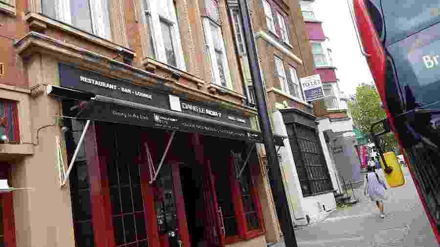Entrada do restaurante Dans le Noir?, na cidade de Londres - Marcel Vincenti/UOL