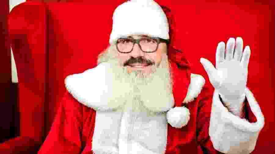 Padre Fábio de Melo como Papai Noel em shopping de São Paulo - Reprodução/ Instagram