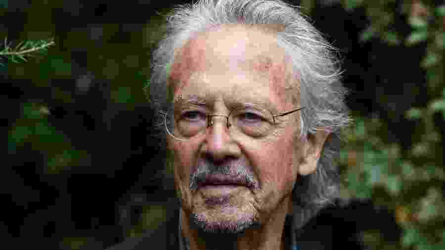 O escritor austríaco Peter Handke, vencedor do prêmio em 2019 - Alain JOCARD / AFP