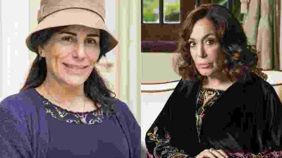 Glória Pires e Susana Vieira - TV Globo/Montagem UOL