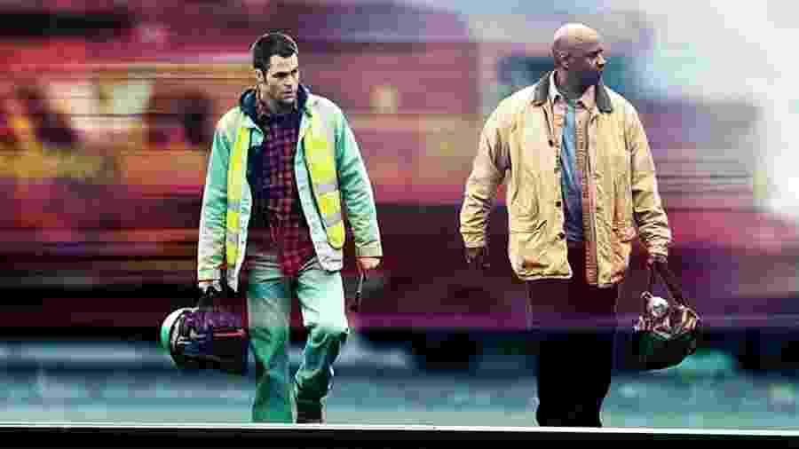 """Denzel Washington e Chris Pine no filme """"Incontrolável"""" (2010), que será exibido hoje na Sessão da Tarde  - Divulgação/IMDb"""