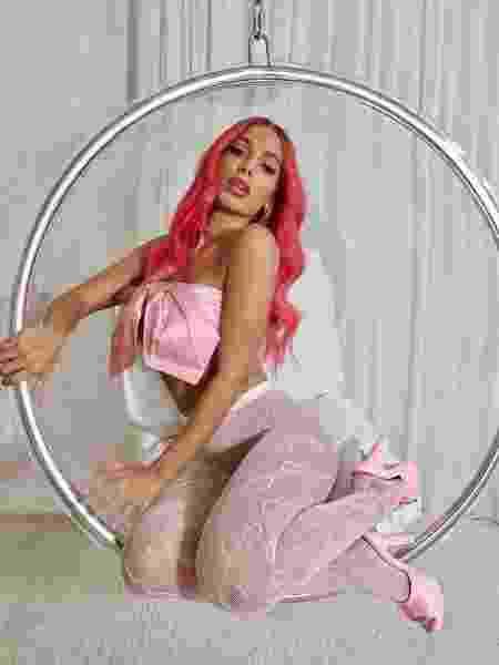 A cantora Anitta, toda de rosa - Reprodução / Instagram