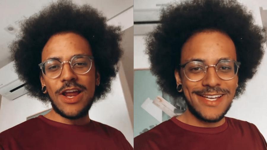 """João Luiz Pedrosa brinca com Tiago Leifert no comando do """"Domingão"""" - Reprodução/Instagram"""