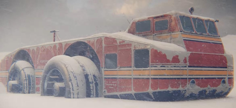 Este é o Antarctic Snow Cruiser, que foi abandonado há muitos anos na Antártida e cuja localização até hoje é desconhecida - Reprodução