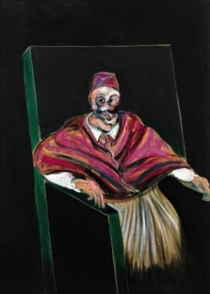 """A obra """"Study for a Pope I"""" , do pintor inglês Francis Bacon, que vai a leilão em Londres - Reprodução"""