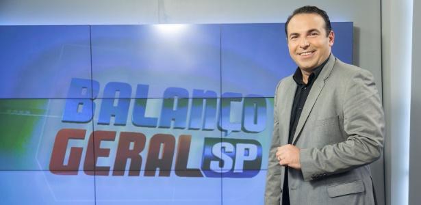 """Reinaldo Gottino apresenta o """"Balanço Geral SP"""" na Record"""