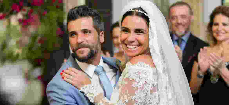 """Casamento de Alice (Giovanna Antonelli) e Mario (Bruno Galgiasso) em """"Sol Nascente"""" - Tata Barreto/Divulgação/TV Globo"""