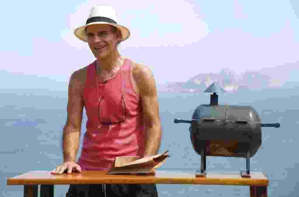 Mario Gomes inaugura venda de hambúrguer gourmet na praia da Joatinga, no Rio de Janeiro - Marcelo de Jesus/UOL