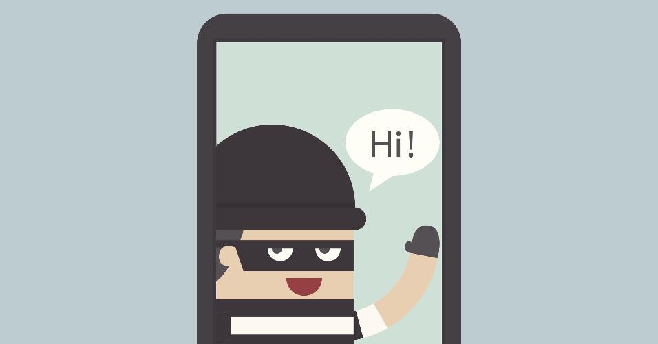 ladrão; celular