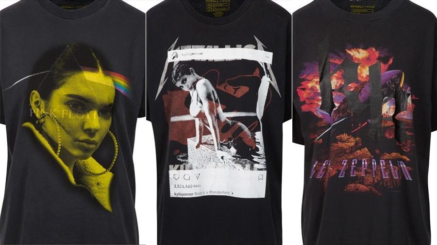 Camisetas de bandas e de Jenners - Divulgação