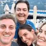 Faustão, Luciana Cardoso, Luciano Huck e Angélica se encontram na Itália - Reprodução/Instagram/lucard