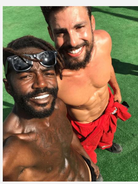 Jonathan Azevedo e  Cauã Reymond - Reprodução/Instagram