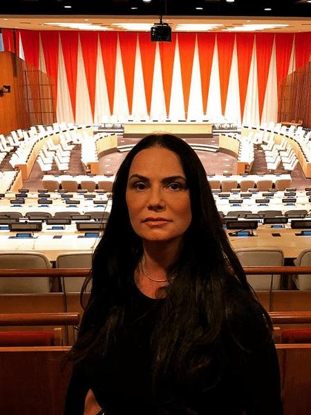 Luiza Brunet no escritório da ONU, em Nova York - Reprodução/Instagram
