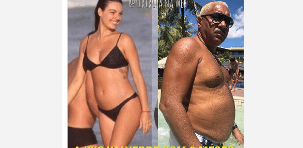 Tiririca faz comparação de sua barriga com a de Isis Valverde