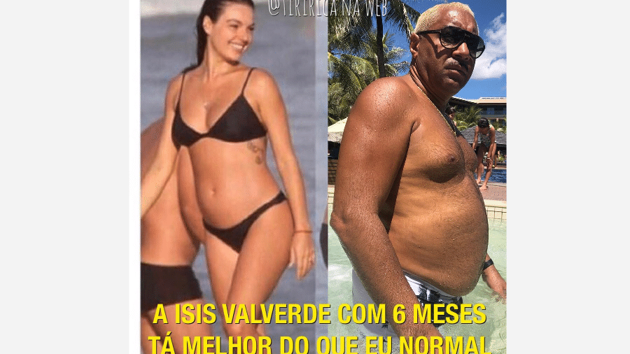 Tiririca faz comparação de sua barriga com a de Isis Valverde - Reprodução/Instagram