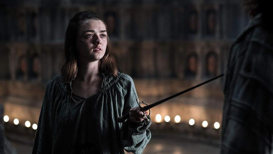 """Maisie Williams é Arya Stark em """"Game of Thrones"""", da HBO - Reprodução"""
