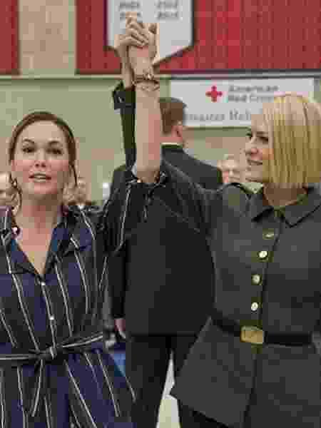 """As atrizes Diane Lane e Robin Wright em cena da última temporada de """"House of Cards"""" - Divulgação - Divulgação"""