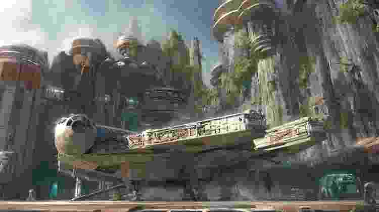 Projeção da atração Star Wars: Galaxy's Edge - Divulgação/Disney - Divulgação/Disney